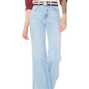 Wildfox Shields Flare High Rise Wide Leg Jeans